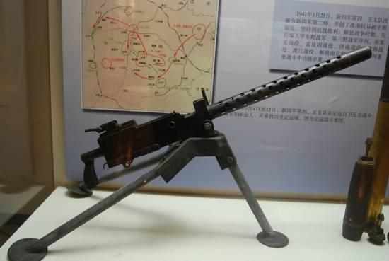 新四军四支队缴获的日军重机枪